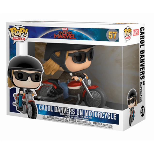 Carol Danvers On Motorcycle Funko Pop Rides Captain Marvel 57