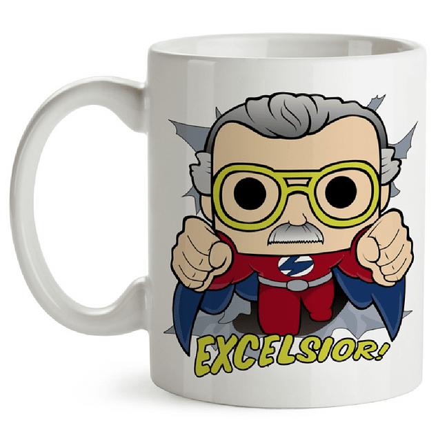 Mug Stan Lee Excelsior Tipo Pop