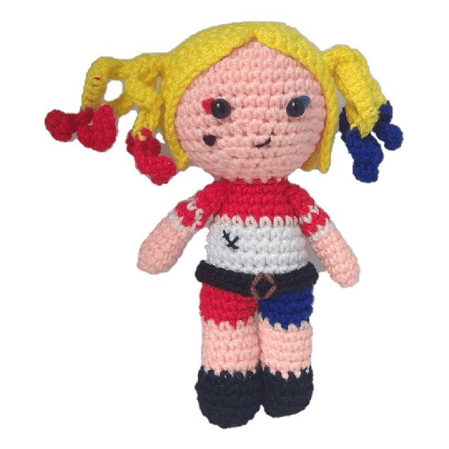 Free Crochet Harley Quinn Coffee Cup Cozy Pattern | 635x635