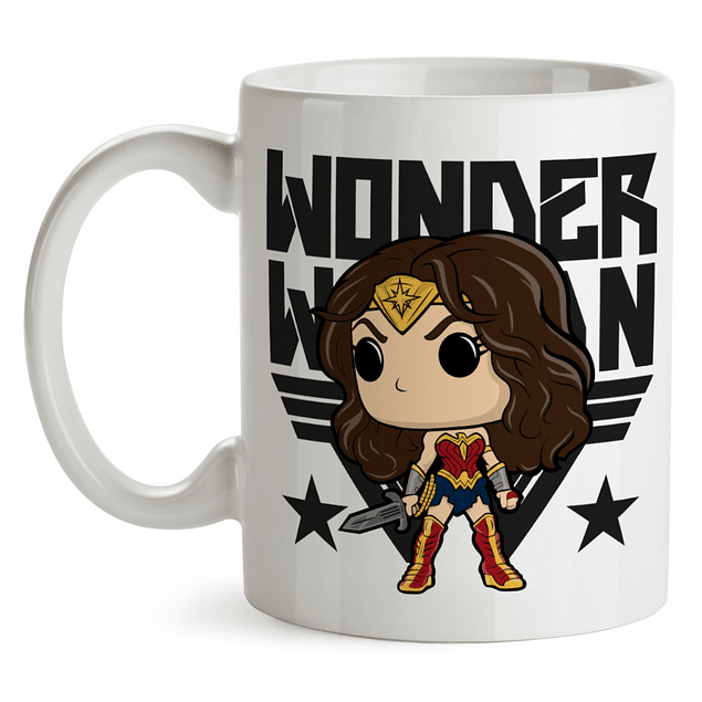 Mug Wonder Woman Gal Gadot Tipo Pop