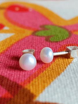 Aretes Niñas Perlas