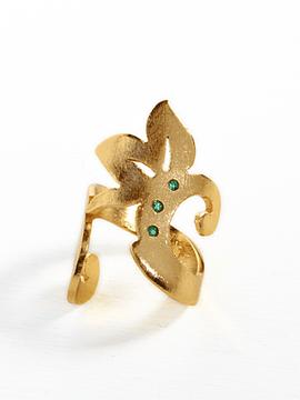 Anillo Grandiflora Esmeraldas