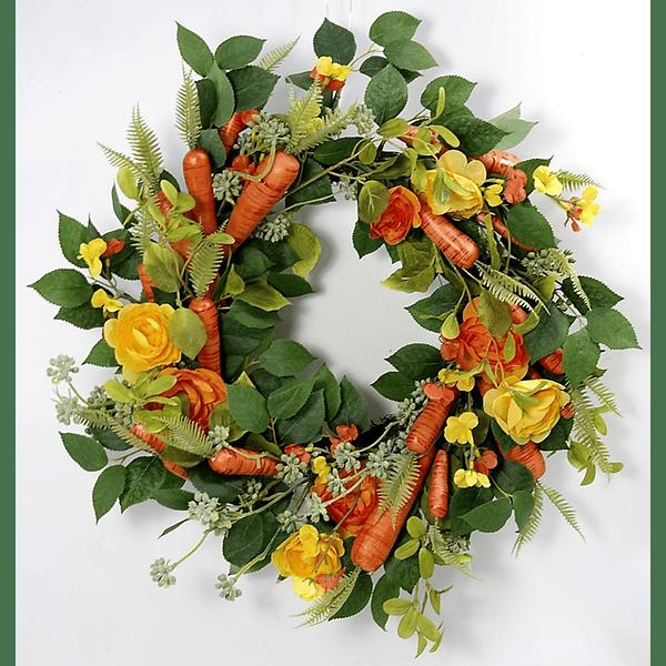 Coroa c/ Cenouras e Flores