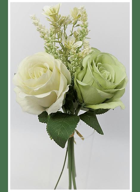Ramo mix rosas branco/verde