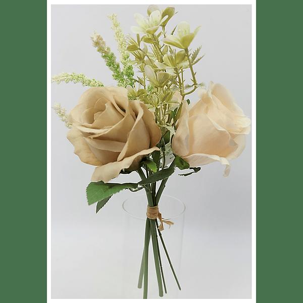 Ramo mix rosas Branco/Brown
