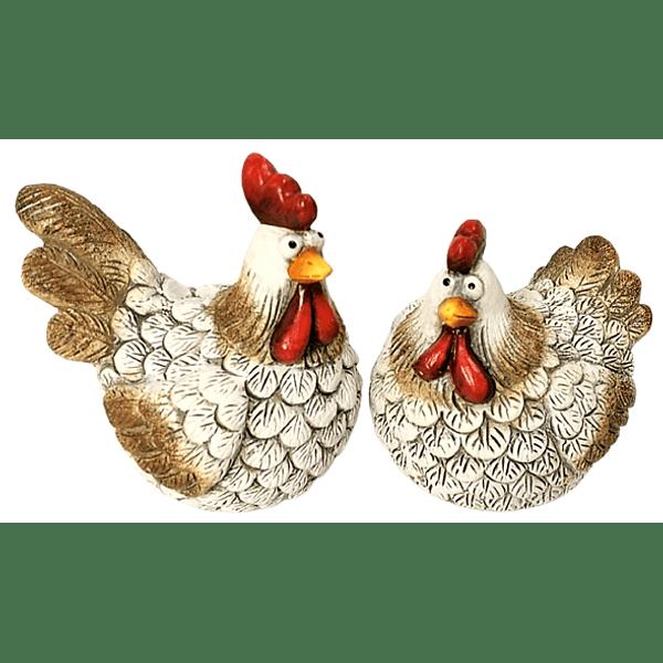 Conjunto galinhas cerâmica