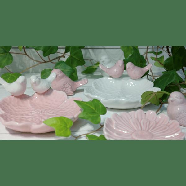 Prato cerâmica c/ passarinho