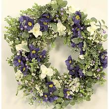 Coroa c/ anemonas azul