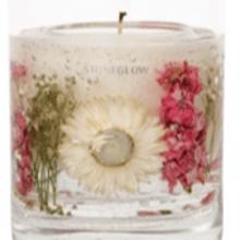 Vela Gel Geranium Rosa