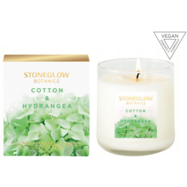 Vela Perfumada Botanic Cotton & Hydragea