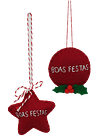 "PENDENTE ""BOAS FESTAS"""