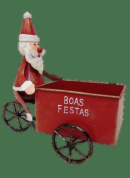 """TRICICLO PAI NATAL """"BOAS FESTAS"""""""