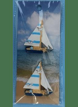 Conjunto de 2 Barcos com autocolante