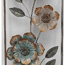 Quadro flores metal