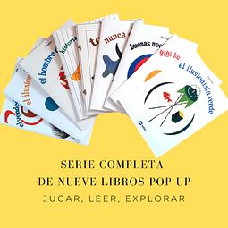 Serie Pop Up completa de Bruno Munari - Nueve libros