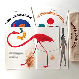 Pack #1 - Tres libros pop up + bolsa estampada + envío gratis
