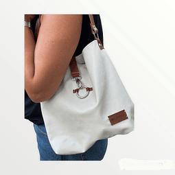 Shoulder Bag Júlia White Leather