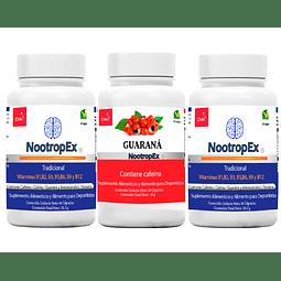NootropEx Tradicional por 2 + Guaraná 60 cápsulas