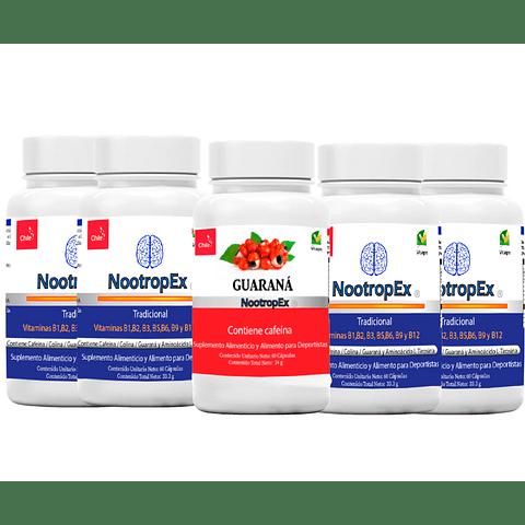 NootropEx por 4 + Guaraná 60 cápsulas
