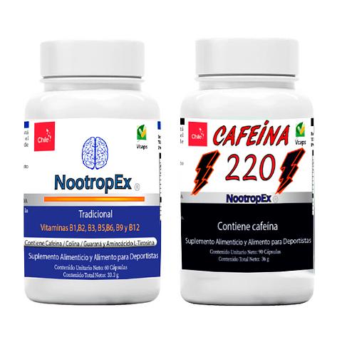 Pack NootropEx + Cafeína 220 + ENVÍO GRATIS INCLUIDO IV a VIII Región