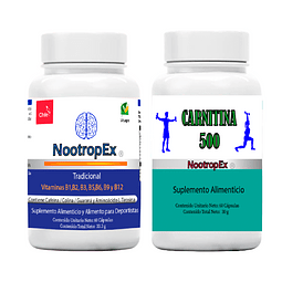 NootropEx + CARNITINA 500 + ENVÍO GRATIS INCLUIDO IV a VIII Región