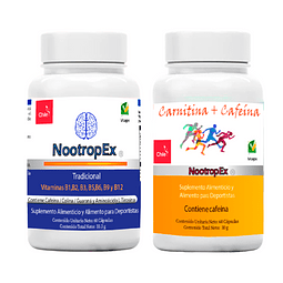 Pack NootropEx + CARNITINA/CAFEÍNA