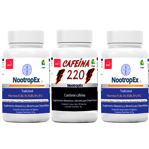 PACK 2 NootropEx + CAFEÍNA 220