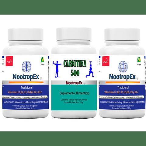 Pack  2 NootropEx + CARNITINA 500 + ENVÍO GRATIS INCLUIDO IV a VIII Región