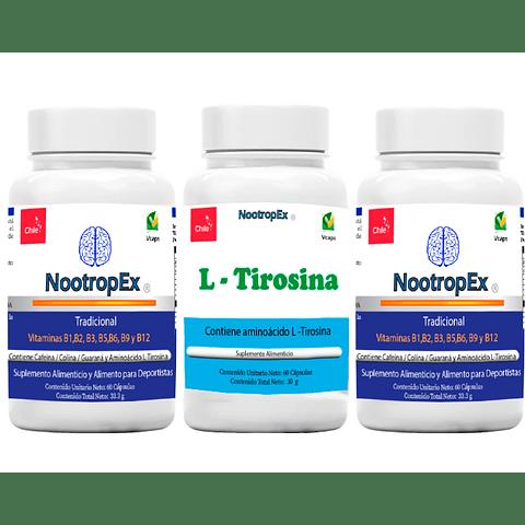 2 NootropEx + 1 L-Tirosina + ENVÍO GRATIS INCLUIDO IV a VIII Región
