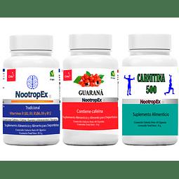 NootropEx + Guaraná 350 + Carnitina 500  + ENVÍO GRATIS INCLUIDO IV a VIII Región
