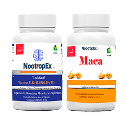 NootropEx Tradicional  + Maca 500 mg NootropEx + ENVÍO GRATIS INCLUIDO IV a VIII Región