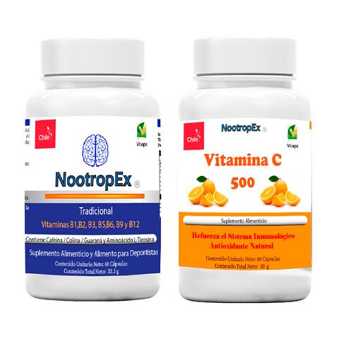 NootropEx + Vitamina C + ENVÍO GRATIS INCLUIDO IV a VIII Región