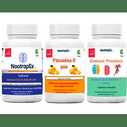 NootropEx + Complejo Vitamínico B + Vitamina C