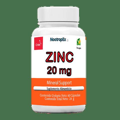 ZINC 20 mg (Envío No Incluido)