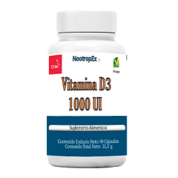Vitamina D3 1000 UI 90 cápsulas (Envío No Incluido)