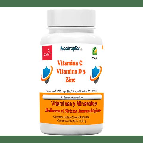 Vitamina C + Vitamina D3 + Zinc ( Envío No Incluido)
