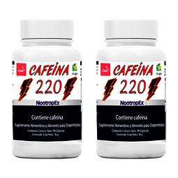 Pack x 2 CAFEÍNA 220 NootropEx  (ENVÍO NO INCLUIDO)