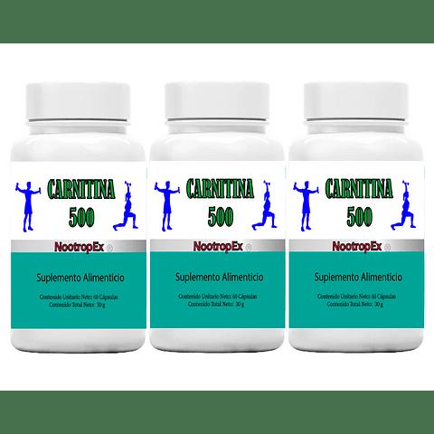 Pack x 3 CARNITINA 500 NootropEx + ENVÍO GRATIS INCLUIDO IV a VIII Región