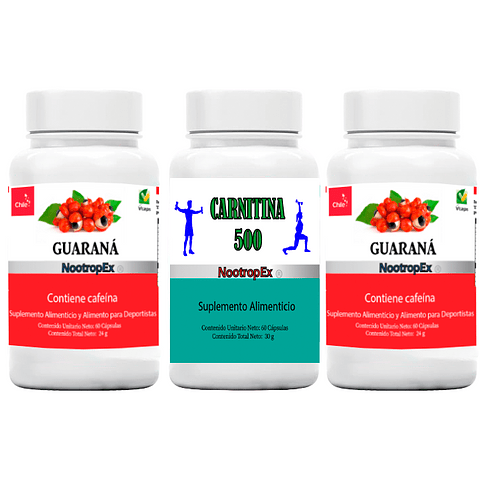 Pack 2 Guaraná 350 + CARNITINA 500