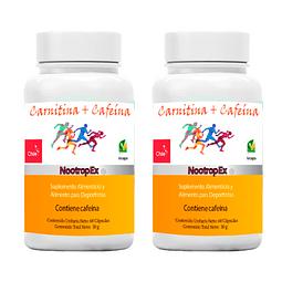 Pack x 2 de Carnitina + Cafeína NootropEx (ENVÍO NO INCLUIDO)