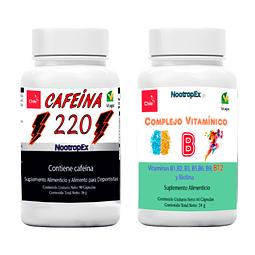 Cafeína 220 + Complejo Vitamínico B (ENVÍO NO INCLUIDO)