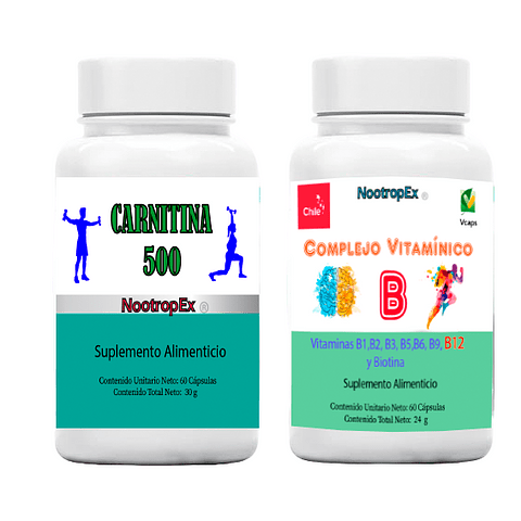 Carnitina 500 + Complejo Vitamínico B (ENVÍO NO INCLUIDO)