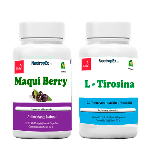 Maqui Berry 500 mg + L-Tirosina (ENVÍO NO INCLUIDO)