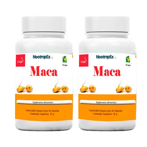 2 Maca 500 mg 60 cápsulas vegetales (ENVÍO NO INCLUIDO)