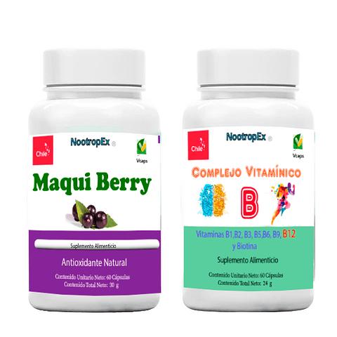 Maqui Berry 500 mg  + Complejo Vitamínico B  (ENVÍO NO INCLUIDO)