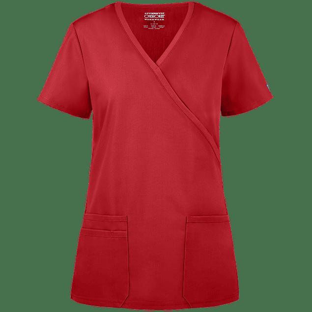 CHEROKEE WORKWEAR - POLERA MUJER #650 REDW