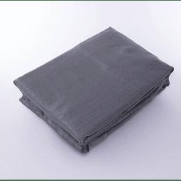 Set 2 Cortinas Barra Textura Gris Acero