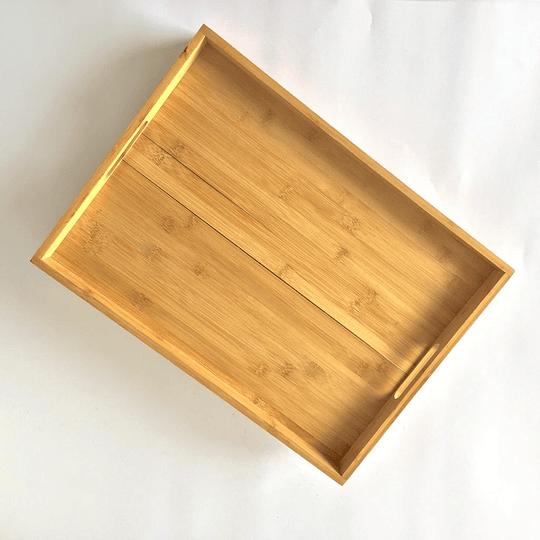 Bandeja de bambú 48x35x6