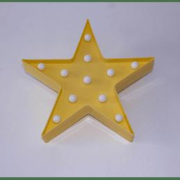 Figura Decorativa Luces Led Estrella Amarilla