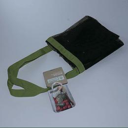 Bolsa Compras Malla negra/verde